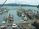 Port of Friday Harbor Marina Harbor Webcam. From San Juan Island Washington State.